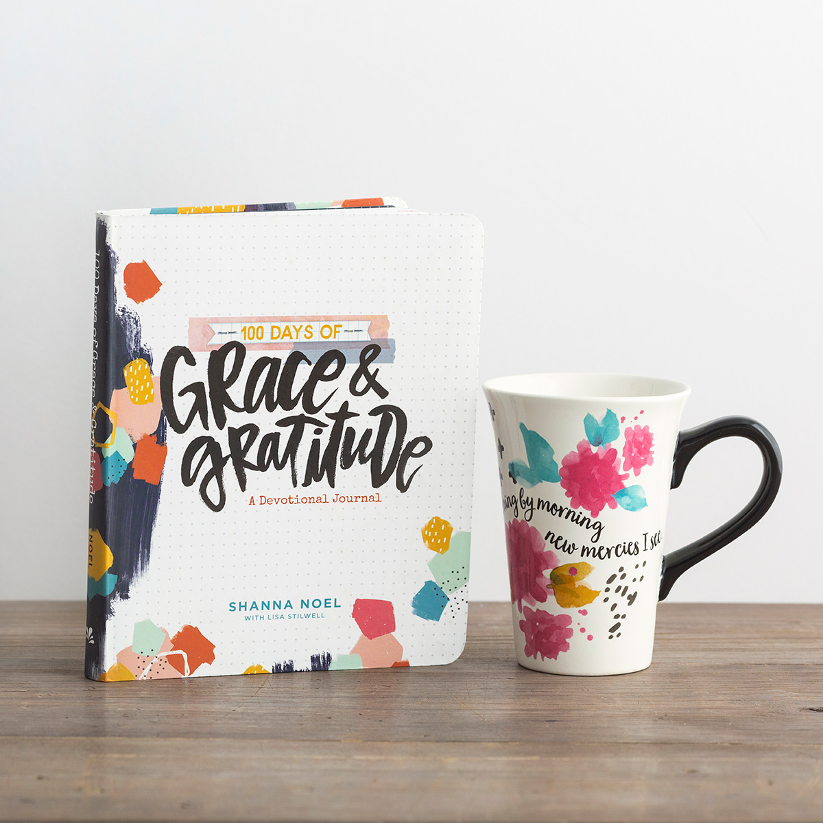 100 Days of Grace & Gratitude Book & Illustrated Faith Mug Gift Set